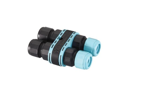 Flos Accessories 3/4-weg connector, IP68, ø 5,5÷12mm kabel. FL F990C010000 Zwart