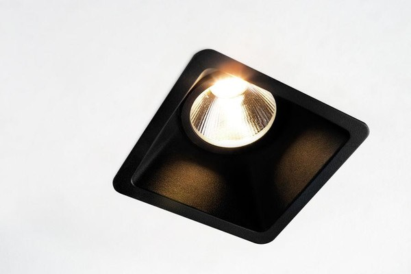 Modular Lighting Lotis Square IP55 MR16 GE MO 12615008 Zwart structuur
