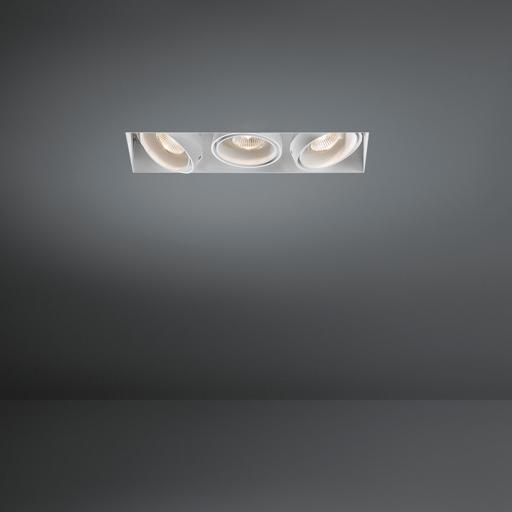 Modular Lighting Mini Multiple Trimless 3x GU10 MO 10382205 Aluminiumgrijs