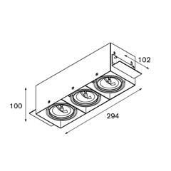 Modular Lighting Mini Multiple Trimless MO 10380302 Zwart
