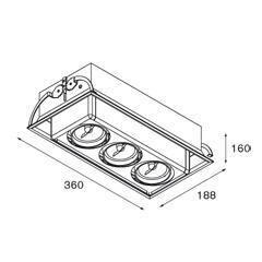 Modular Lighting Multami(e) MO 11331709 Wit structuur