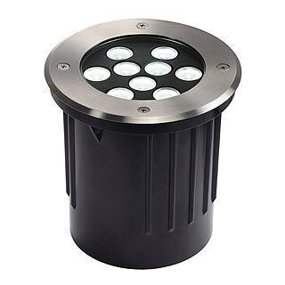 SLV Dasar 9x1W LED DM 230152 Roestvrij staal
