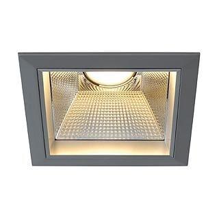 SLV Downlight PRO S/T square LED 20W DM 162454 Zilvergrijs