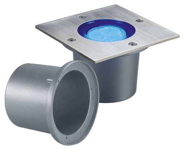 SLV Wetsy power LED square DM 227427 Roestvrij staal
