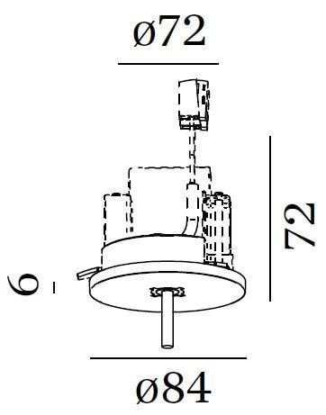 Wever & Ducre Accessoires Enkelvoudige Plafondbasis WE 90052027 Zwart